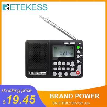 Retekess TR102 Portable Radio FM/AM/SW World Band FM Radio MP3 Player REC Recorder With Sleep Timer Black Receiver Recorder цена 2017