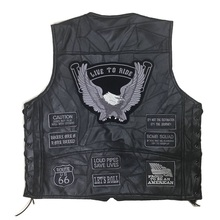 Cool Motorcycle Jacket Genuine Leather Vest Mens Punk Retro Classic Style Motorcycle Jacket Biker Club Casual Vest Moto Clothing