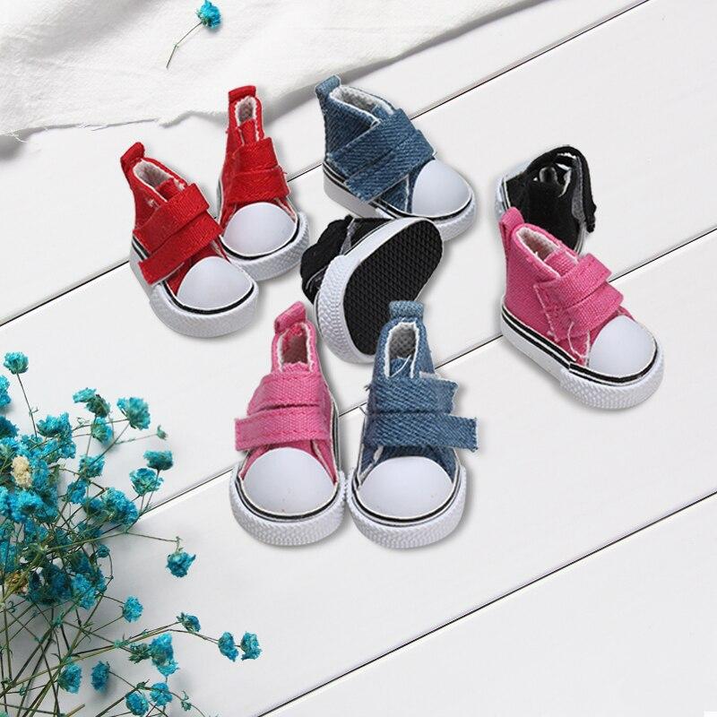 5cm Canvas Shoes Doll Fashion Mini Shoes Doll Shoes DIY Handmade Doll Doll Accessories