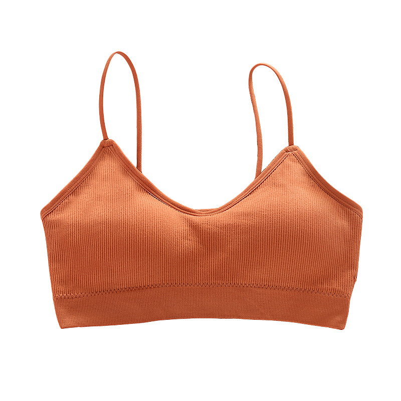 SP CITY Simple Vogue Sporty Invisible Push Up Bra Solid Top Sexy Seamless Bralette Chest Tops