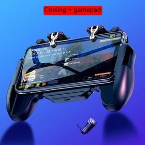 Image 2 - GamePads Controller Trigger Cooler Cooling Fan Fire PUBG Mobile Game Controller Joystick Metal L1 R1 Trigger Game Accessory