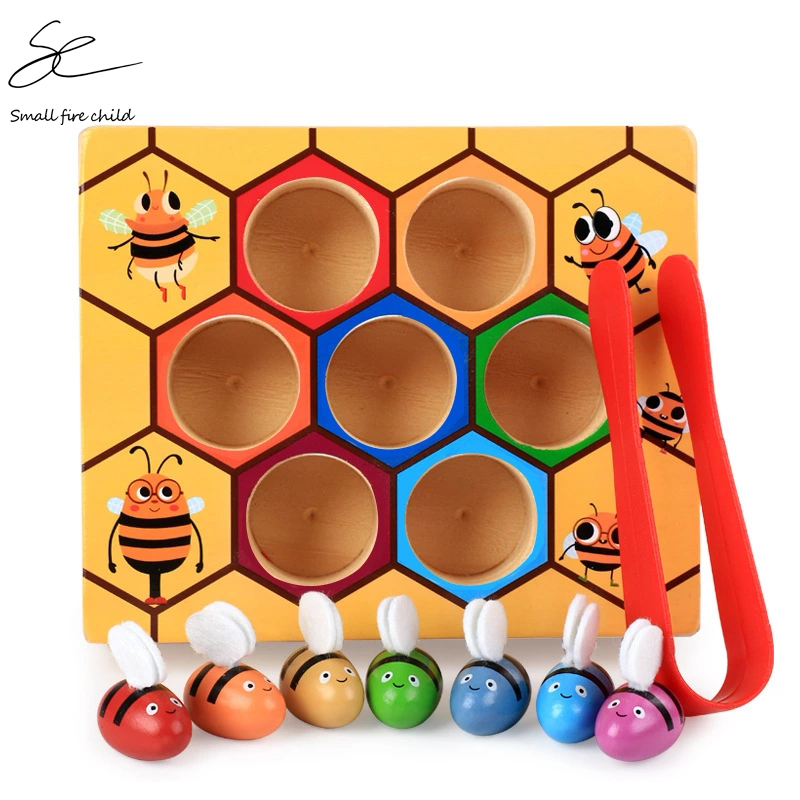 NEW  Baby Wooden Novelty & Gag Toys Beehive Game Learning Education Toy Bee Table Game Children Gifts