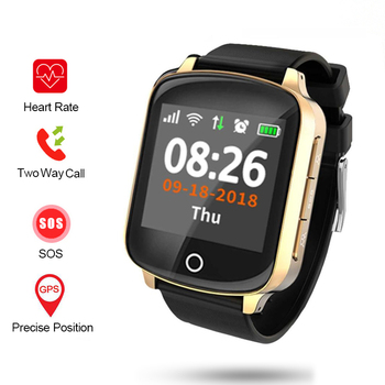 Swimming Elderly Older People GPS+LBS+WIFI Location Heart Rate Long Standby SOS Remote Monitor Call  SmartWatch