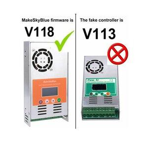 Image 2 - MakeSkyBlue MPPT контроллер солнечной зарядки 30A 40A 50A 60A, ЖК дисплей, защита от перегрузки, версия V118, бесплатная доставка