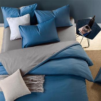 Blue Grey 100%Cotton Duvet Cover Twin Queen/King Size Bedding sets Bed sheet Fitted sheet Kids Adults Bedding set linge de lit
