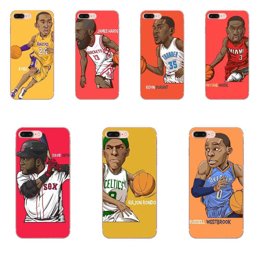 Soft Cell Phone Shell For Xiaomi Redmi Note 2 3 3S 4 4A 4X 5 5A 6 6A Pro Plus Basketball Star Cartoon