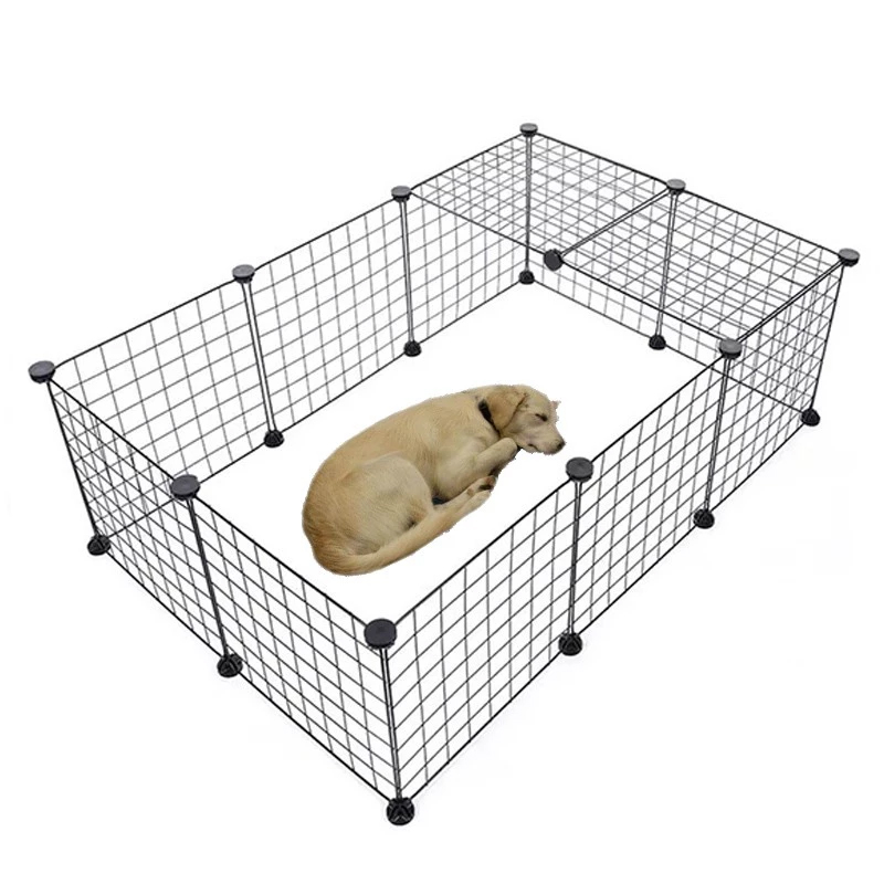 Portable Pet Playpen Heavy Duty Foldable Dog Exercise Fence With Door For Cat Puppy Rabbits Portable Suit Outdoor Indoor