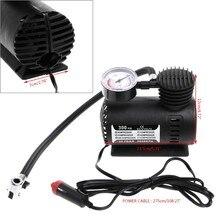 300 psi 12v carro portátil mini compressor de ar elétrico pneu inflator bomba com calibre para bola bicicleta carro preto cor dropship 1xcf