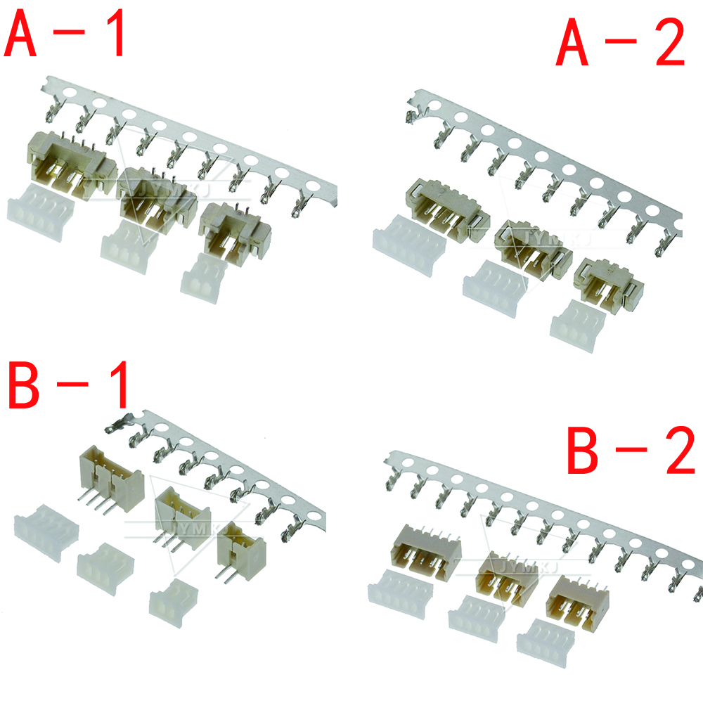 10sets MICRO JST 1.25 2/3/4/5/6 Pin Connector 1.25MM PITCH Horizontal Straight Pin (header + Housing + Terminal ) 1.25-2p/3p/4p/5p/6 Pin