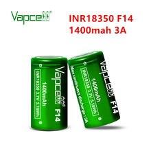 Vapcell Original INR 18350 F14 1400mah 3A 3,7 V Li Ion Batterie Reach zelle für taschenlampe/power tools