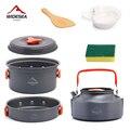 Столовая посуда Widesea для кемпинга, набор посуды для открытого воздуха, горшки, туристические блюда, котелок, кухонное оборудование, принадле...