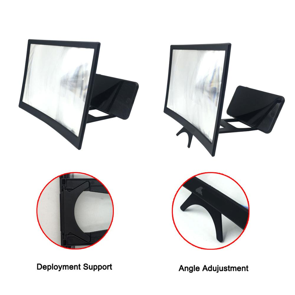 "12"" HD Stend Enlarged Screen Mobile Phone Projection Phone Cinema Amplificatore Schermo Lupa Para Celular Magnifier Amplifier 6"