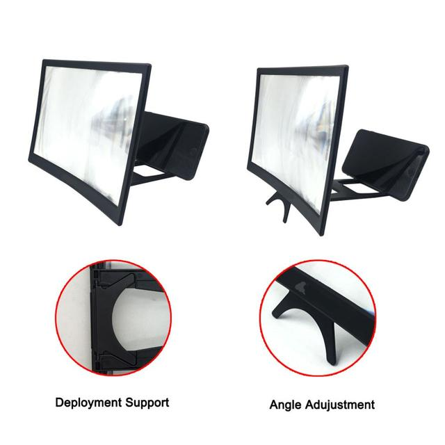 12″ HD Stend enlarged screen mobile phone projection phone cinema amplificatore schermo lupa para celular magnifier Amplifier