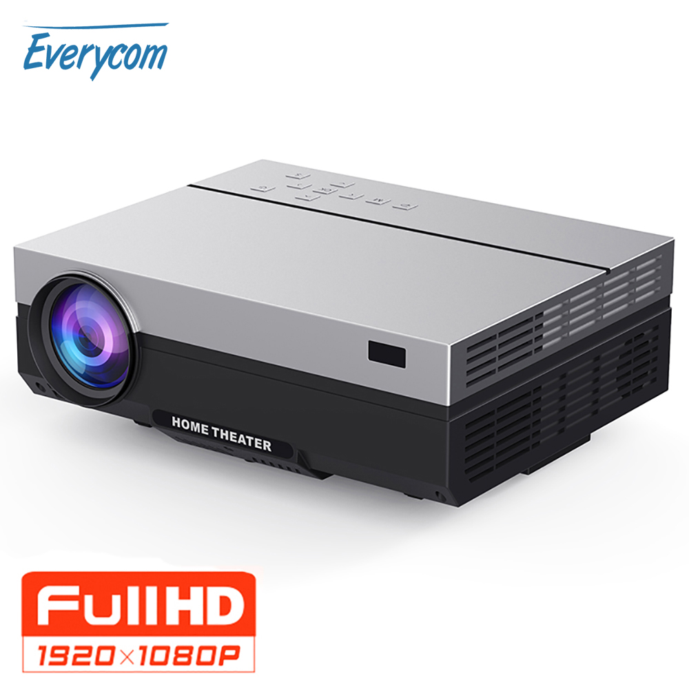 Everycom Full HD Projector 1920x1080P T26K Projector Portable 5500 Lumens HDMI Beamer Video Proyector LED Home