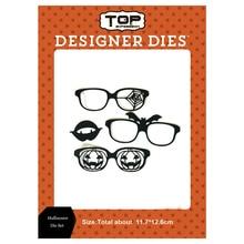 11.7*12.6cm Halloween glasses set Dies Metal Cutting Pumpkin Scrapbooking Cut for DIY Paper Cards making