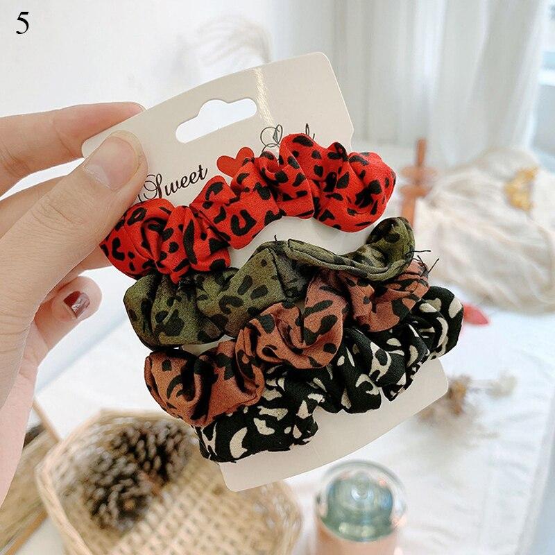 1 комплект резинки для волос кольцо для волос карамельного цвета Веревка для волос осень-зима женский хвостик аксессуары для волос 4-6 шт. ободки для девочек Подарки - Color: 0005