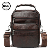 купить Genuine Leather Bag Men Messenger Bag Shoulder Bags For Men 2019 High Quality Fashion Flap Luxury Handbag Shoulder Handbag KSK по цене 996.51 рублей