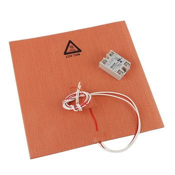 300X300mm Silicone Heater 3D Printer Heater Heatbed Pad 220V 750W with Solid State Relay for 3D Printer Parts