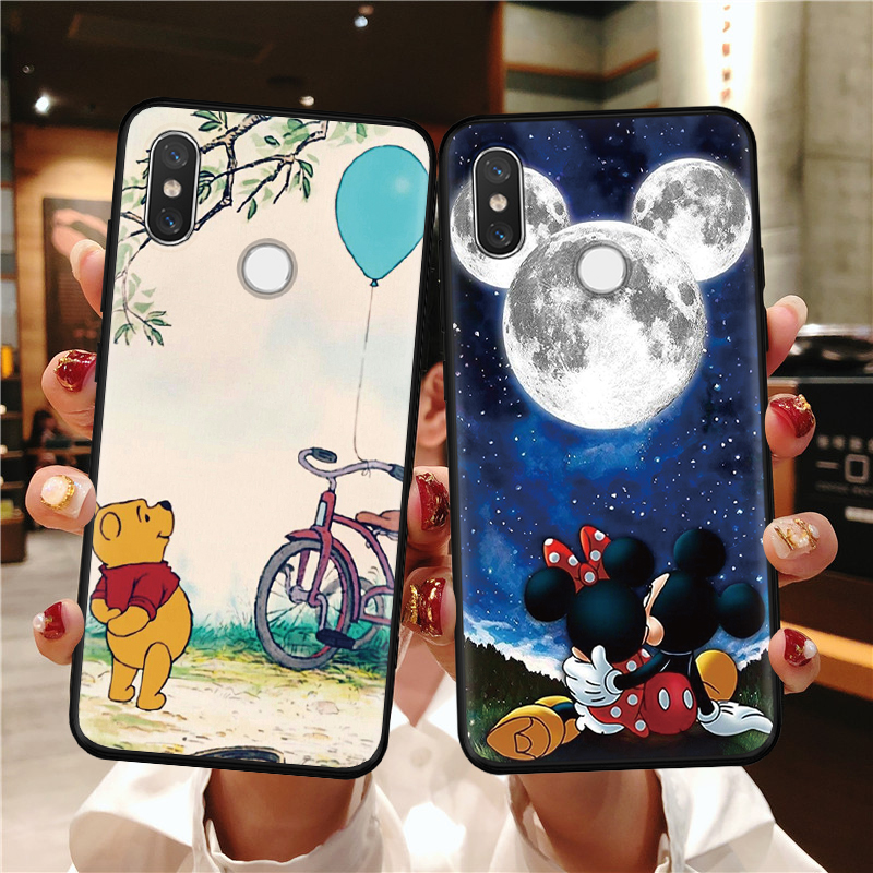<font><b>Cartoon</b></font> Mode Fall Für Xiao mi Red mi Hinweis 8 <font><b>7</b></font> 8T K30 K20 6 5 Pro Plus S2 <font><b>7</b></font> mi 9 8 9T Pro A3 CC9 CC9e Lite TPU Fall Matte Paar image