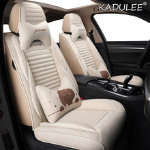 Car-Seat-Cover Audi KADULEE FLAX for A1 A2 A3 A4 A5 A6 A7 A8 Q3 Q5 Q7 Sq5/L/5-seat-covers-accessories