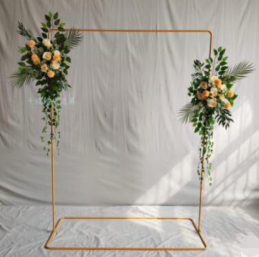 Wedding Props Stage Background Frame Iron Square Arch Decorative Flower Stand Welcome Area Sign Frame Custom