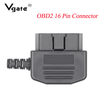 New OBD2 16Pin Male Connector Female Adaptor J1962F for Car Diagnostic Cable Tool for OBD 2 ELM327 V1.5 V2.1 obd2 Scanner Reader image