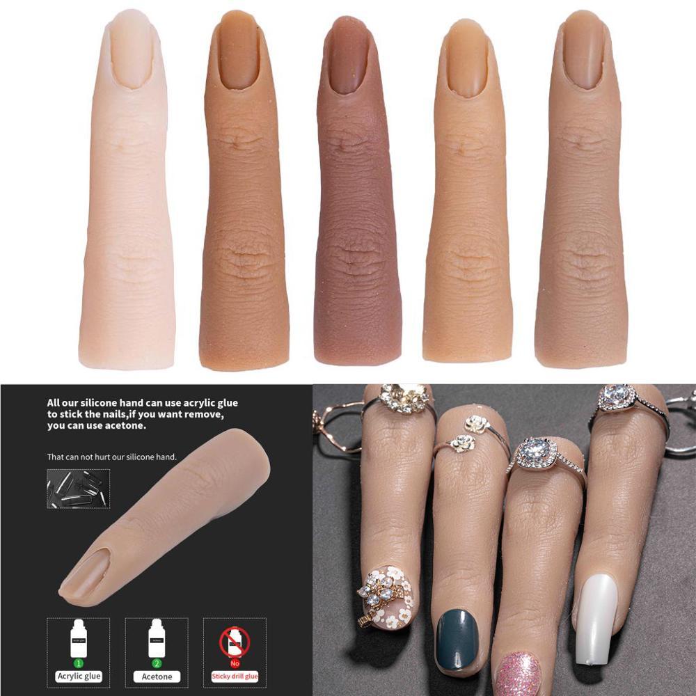 Инструменты для маникюра и обучения ногтей, натуральные наконечники для ногтей с имитацией пальцев