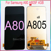 for Samsung A80 A805 A805F/DS 4GB LCD screen display with touch with frame assembly