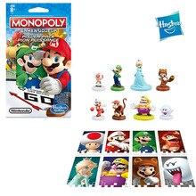 Hasbro Монополия Супер Марио Луиджи Варио гриб жаба Racoon Мэри обезьяна шахматы блок Питания настольная игра модель взрослые детские игрушки