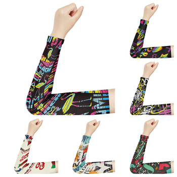 Kolorowe Pritned śliczne Grils ocieplacze na ręce siatkówka ochrona przeciwsłoneczna sport kompresja osłona dłoni kolarstwo bieganie ochrona UV rękawy tanie i dobre opinie CN (pochodzenie) 38cm BX-62 NYLON WOMEN Arm Warmers Volleyball Sleeves Sports Sleeves Compression Sleeves Hand Cover UV Protection Sleeves