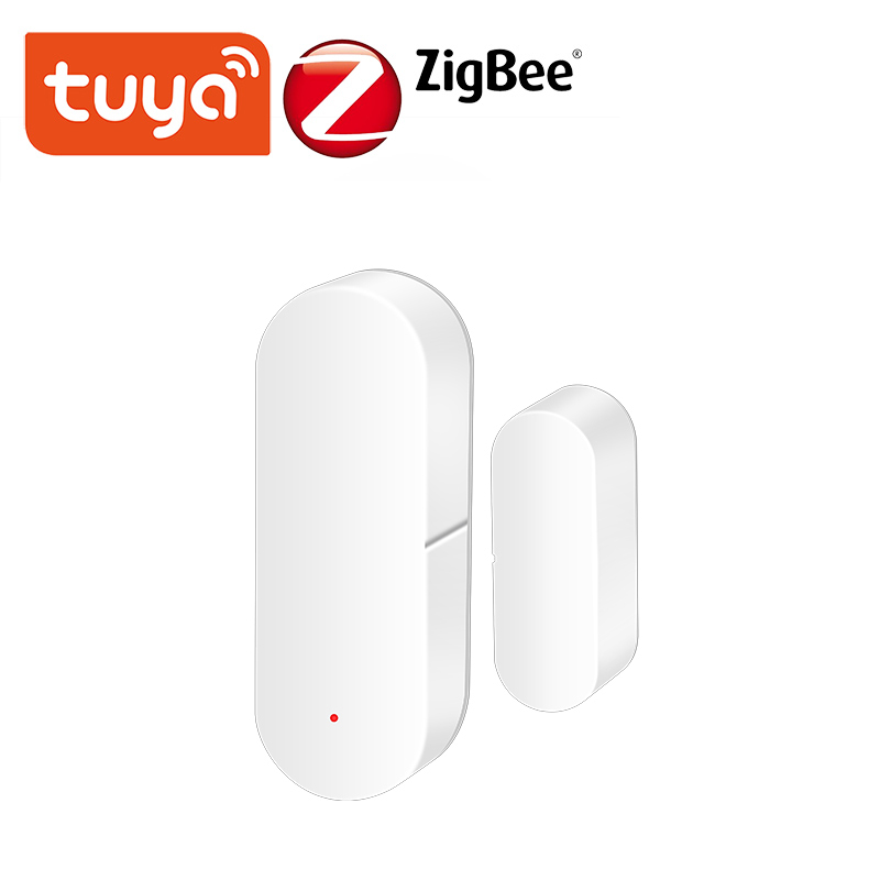 Tuya WiFi/ZigBee Smart Door Window Sensor Home Security,SmartLife Tuya APP Remote Control,With Alexa Google Home Voice Contorl