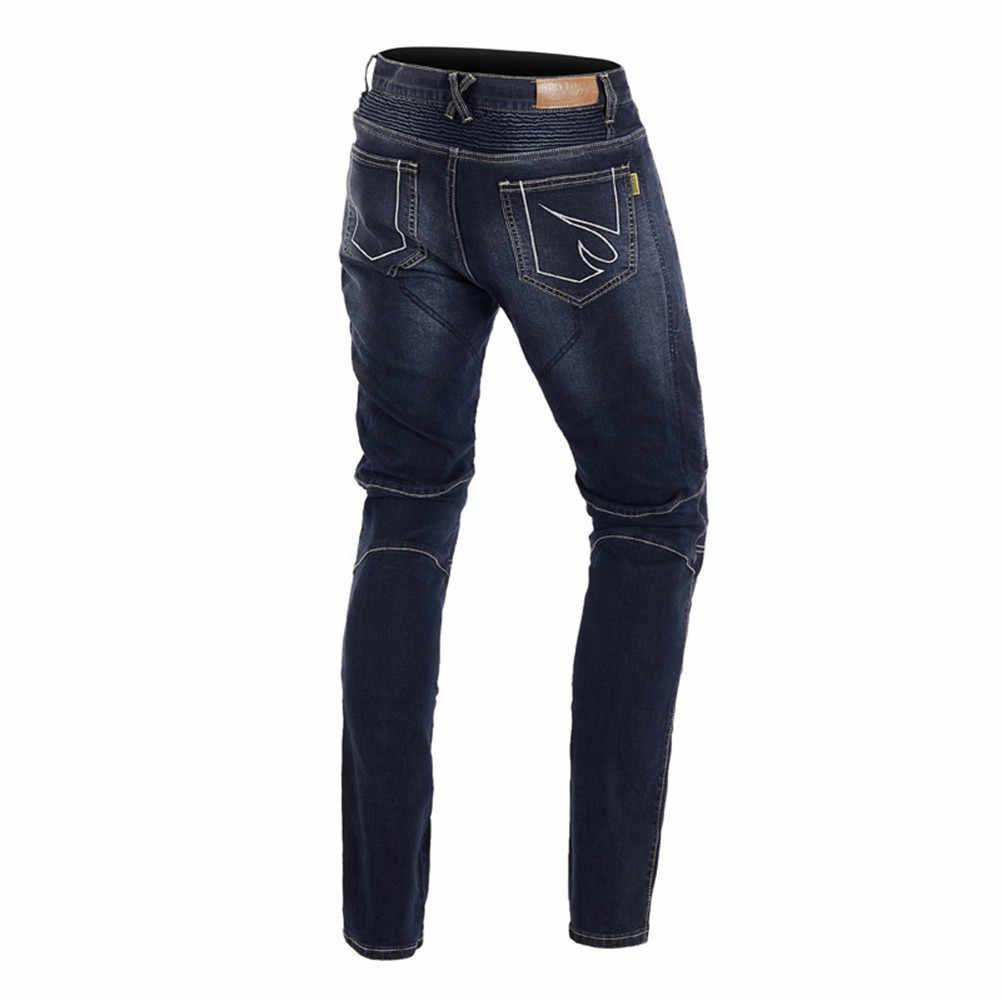 Nuovo Caldo Dell'annata Dei Jeans Da Moto Uomini di Estate Moto Da Corsa Pantaloni Moto Pantaloni per lo Sport con Kevlar Equipamento de Motocross
