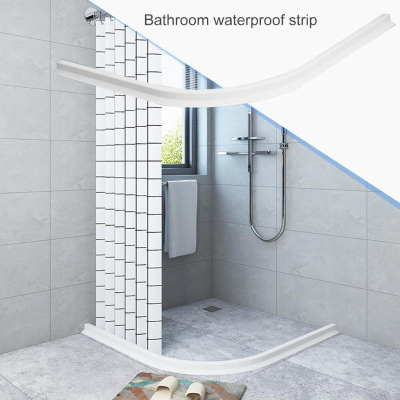 Bathroom Water Stopper Flood Barrier Rubber Dam Silicone Water Blocker Water Barrier Floor Partition Strips Dry And Wet Separate