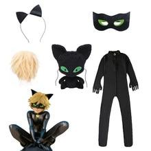 Vêtements de carnaval chat Noir, ensemble Cosplay pour enfants, combinaison en Spandex pour filles, Costume de maquillage de vacances d'halloween, vêtements de fête