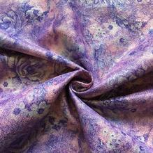 Purple Rose jacquard embroidery painting Tweed polyester fabric coat dress textiles nappe rideau tissu patchwork diy fabric C821 black rose embroidery pattern patchwork design dress