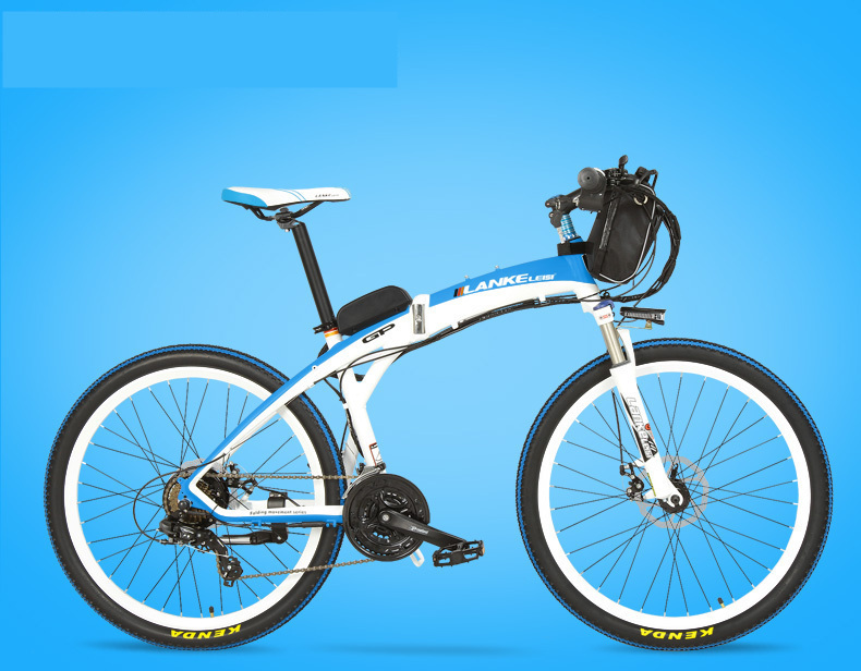 Lankeleisi 189.47 electric bicycle, folding bicycle, 26 inches, 36/48 V, 240 W, disk brake, fast folding, mountain 17