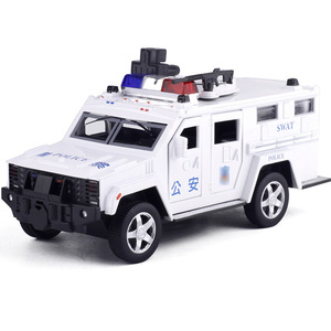 Image 3 - 1:32 משטרת SWAT נגד חטיפה משוריין רכב משאית סגסוגת רכב דגם עם מוסיקלי מהבהב למשוך בחזרה עבור תינוק צעצוע משלוח חינם