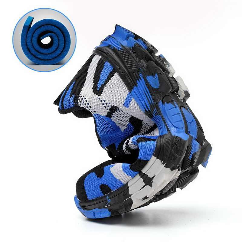 DIHOPE 작업 부츠 건설 남자 야외 강철 발가락 모자 신발 남자 위장 펑크 증거 고품질 안전 플러스 크기