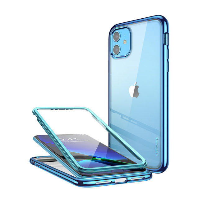 For iPhone 11 Case 6.1 (2019) SUPCASE UB Electro Metallic Electroplated+TPU Full Body Hybrid Case with Built in Screen Protector