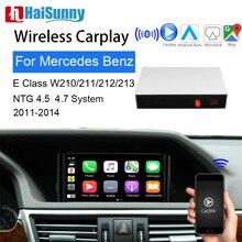 Wireless Carplay For Mercedes E class W210 W211 W212 W213 2011-2014 Support Smart Car Video Screen multimedia iOS Mirroring Maps