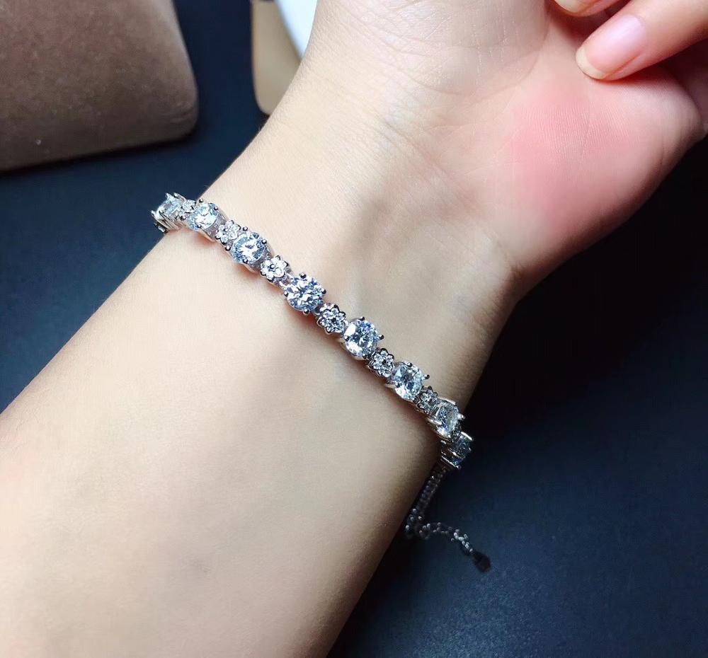 Moissanite D VVS  Women's Bracelet 925 Pure Silver Diamond Bracelet Latest Style Hot Sale Promotion