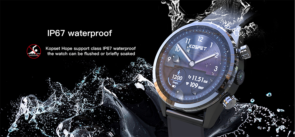 Waterproof kospet Hope 3GB Smart Watch with 8MP Camera including Google play store and GPS Map waterproof for men available for Android ios 16
