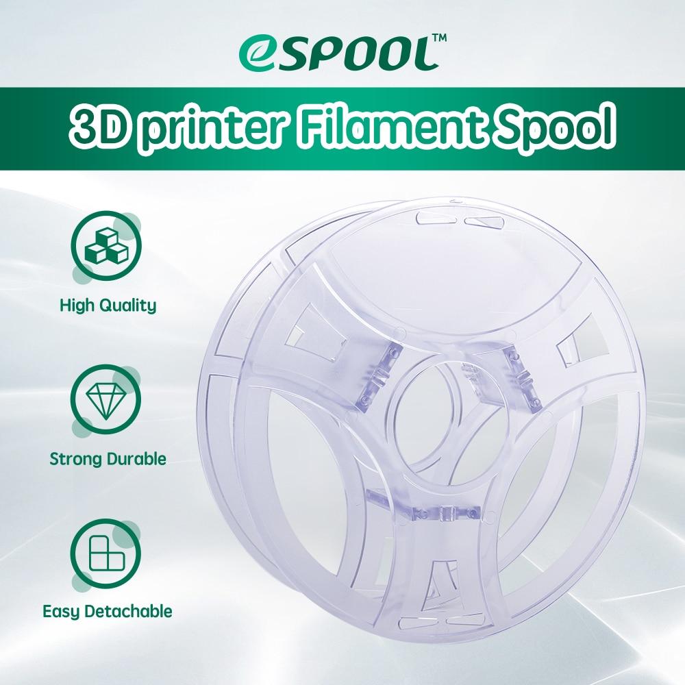 Многоразовая шпуля eSUN для 3D нити, Прозрачная Съемная катушка для 3d-печати, пла ПЭТГ, 1 кг