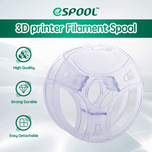 Esun 3d filamento reusável carretel recarga transparente 3d impressão removível filamento carretel para 1kg pla petg spooless refilament
