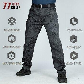 77City Killer Military City Tactical Pants Men 5XL 6XL Combat Waterproof Cargo Mens Pants Breathable SWAT Camouflage Trousers