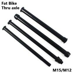 Bicicleta através do eixo fatbike eixo espetos cubos de bicicleta tubo eixo liberação rápida frente eixo traseiro m12 m15 p1.5 p1.75 acessórios da bicicleta