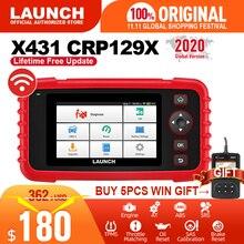 запуск x431 crp129x сканер obd2 авто считыватель кодов диагностический инструмент obd автомобиль eng на abs srs oil sas tpms автомобильный инструмент pk crp129e