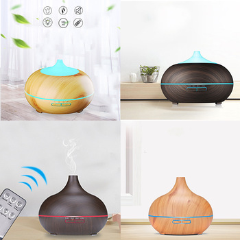 Household Electric Humidifier Essential Aroma Oil Diffuser Ultrasonic Wood Grain Air Humidifier USB Mini Mist Maker LED Light saengq electric humidifier essential aroma oil diffuser ultrasonic wood grain air humidifier usb mini mist maker led light for