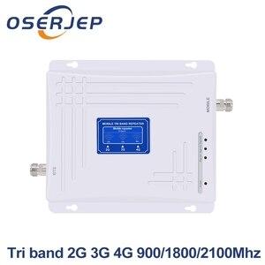 Image 1 - Trị Ban Nhạc 2G 3G 4G Tăng Cường Tín Hiệu 900MHz 1800MHz 2100MHz GSM WCDMA UMTS LTE tế Bào Repeater Triband 900/1800/2100Mhz Khuếch Đại