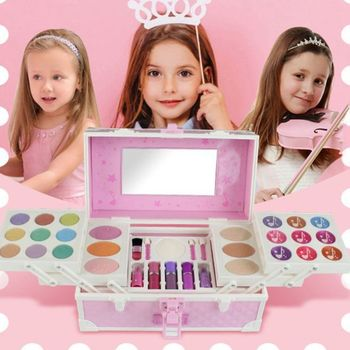 Princess Makeup Toys Set Non-Toxic Pretend Play with Cosmetic Case Training Toy For Girls Birthday Gift 72XC